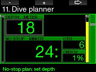 Altitude range. 6. Status of saturation at the time the planner is activated. 7. Observance of the prescribed ascent rates. NOTE: When the G2 is in Gauge or Apnea mode the dive planner is disabled. 2.