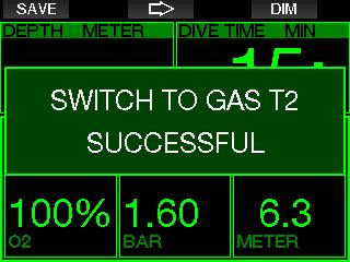 English Switching back to a gas mixture with lower oxygen concentration There may be situations in which you have to switch back to a tank with lower oxygen concentration.