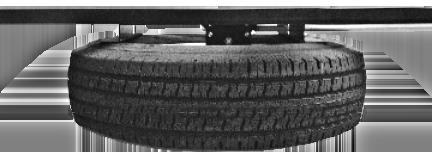 Note: The spare tire must be raised to the stow position by manual hand crank only. The tire should be raised to the point that the tire s sidewall contacts the angle brackets firmly (Fig. 21A). Fig.