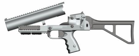3. Operating principle When the weapon is closed, the locking lug under the barrel is held in position by the two locking