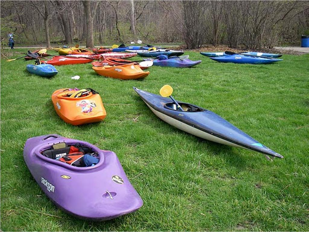 Most common whitewater kayaks are: Play boats