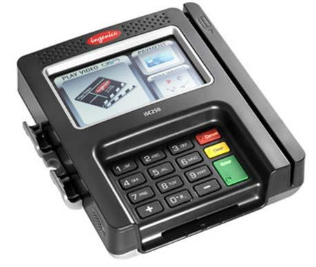 RCM Setup - PIN Pad Device Setup (CONTINUED) Ingenico isc250 The Ingenico isc250 is a signature capture device equipped to handle all forms of payment including EMV Chip & PIN, Chip & Sign,