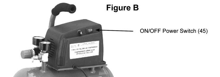 Safety Valve (25) 2. Plug the Power Cord (35) into the nearest 120 volt, grounded, electrical outlet. 3.