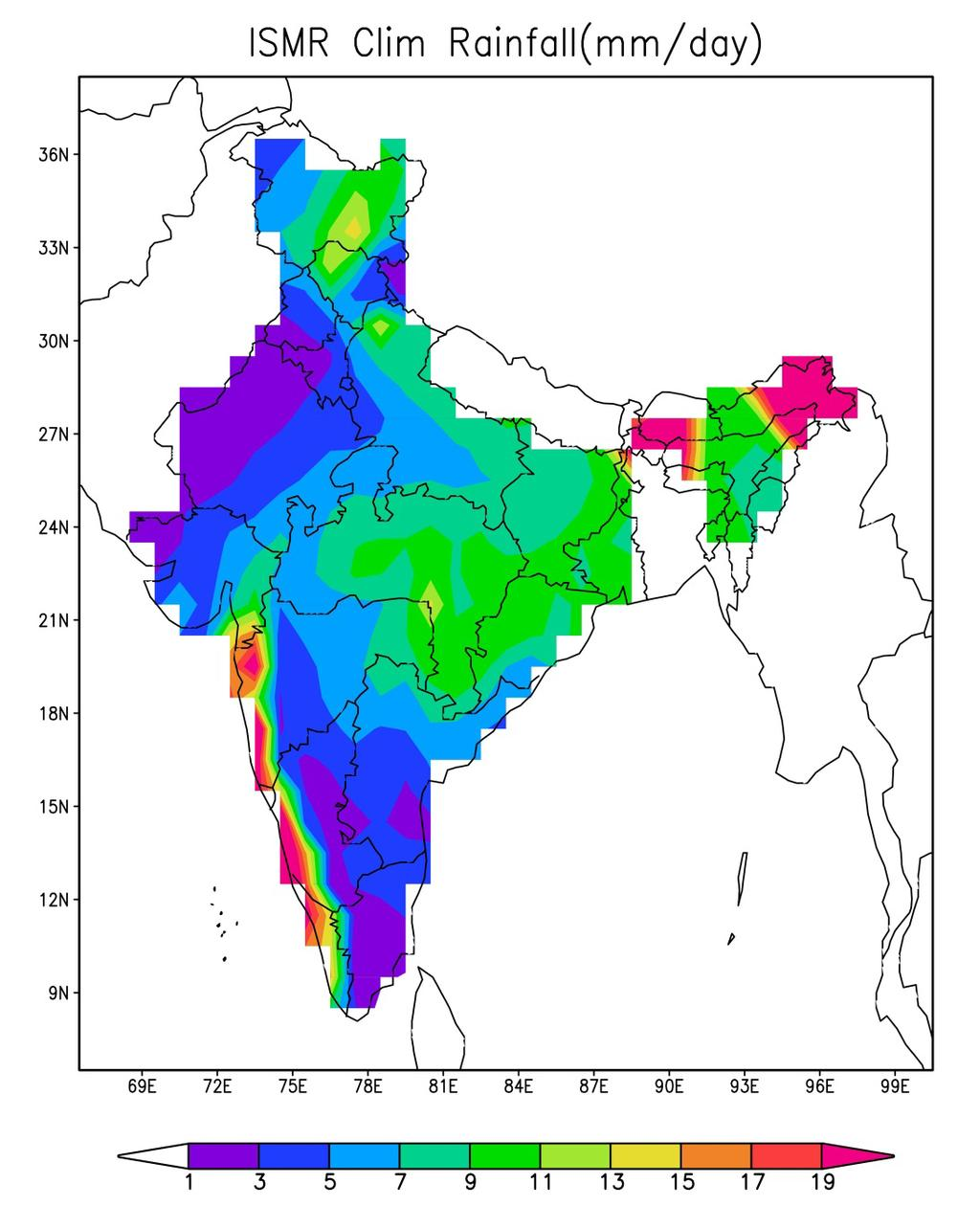 Homogeneous monsoon regions of India and Australia.