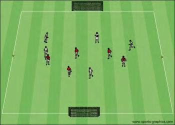 U9-10 Training Session 10 Goalkeeping Coaching Points Good footwork to get behind ball Palms facing away from goal Shoulders remain square to the ball Make contact with the hands first Phase #1 {
