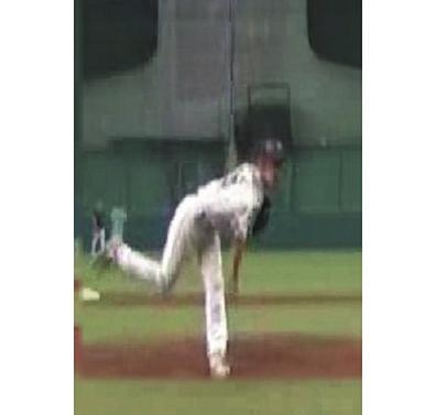 When the pitcher throws the ball, he takes a step from the pitcher s plate.