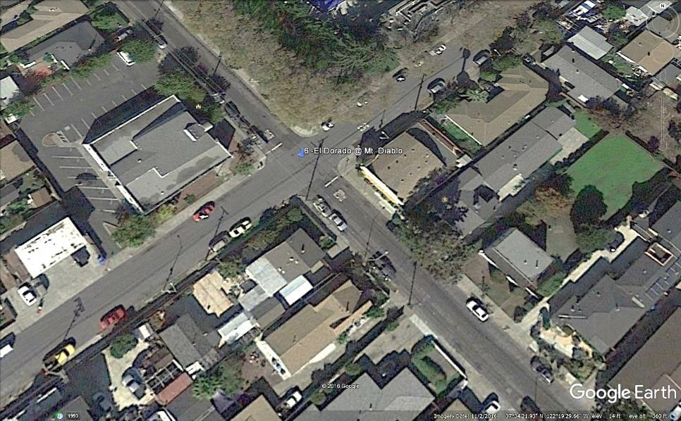 6 Eldorado at Monte Diablo Issue: Congestion (TFSC recommends: Existing 2-way stop be converted to a traffic signal) Discussion and Analysis: The intersection of Monte Diablo Avenue and North