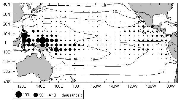 Impact of ENSO on surface tuna habitat 5 Figure 1.