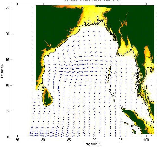 4]; at the North-East monsoon end, the surface water of Andaman Sea seems to be warmer, more saline and reaches the peak in May, in contrast, the end of South-West monsoon when the mixture of highly