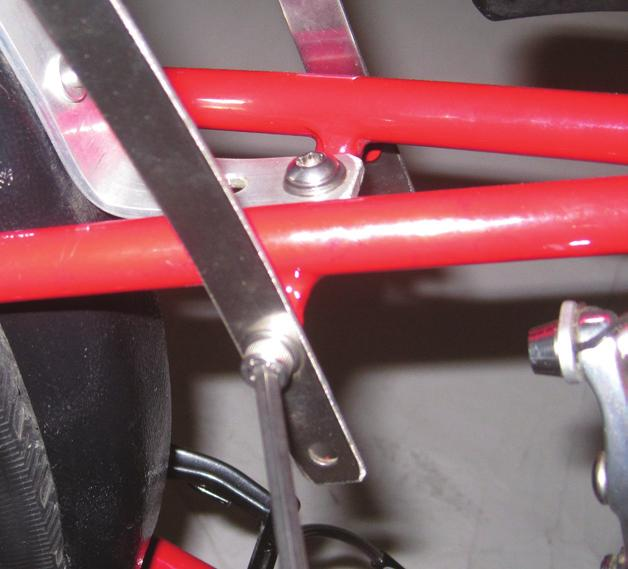 Accessories: Rear Rack 4 Attach Stainless Steel Stays to Frame. Remove the two bolts on the side of your seat stay.