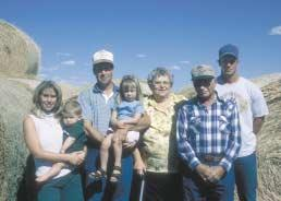 Ties to the Land CONTINUED FROM PAGE 39 @The Connelly family includes (from left) Wendy, Matthew, Don, Mikayla, Lillian, Clarence and Leon Connelly.