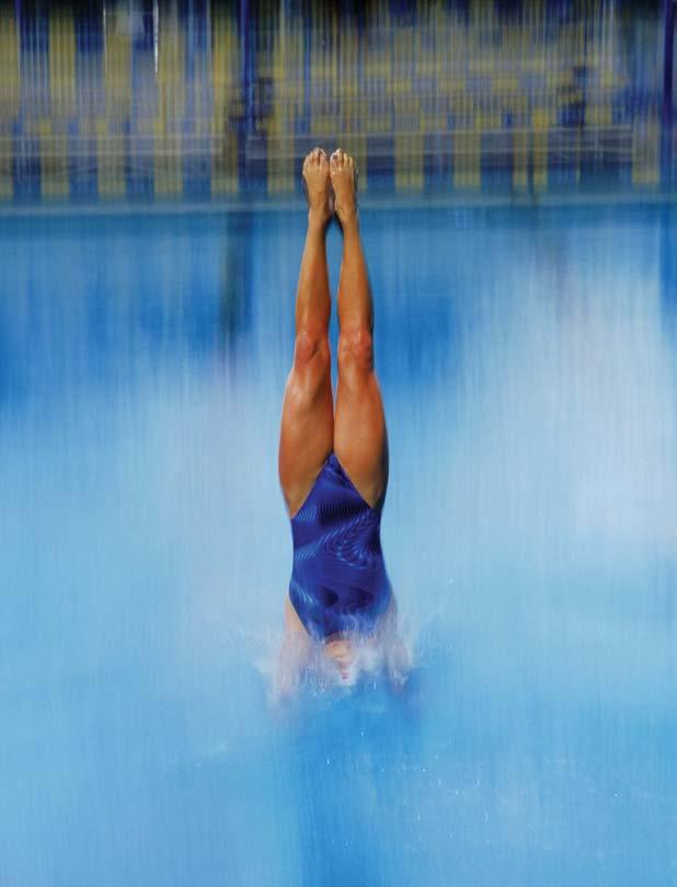 CHAPTER 8 Diving Diving is a sport that involves entering the water from a springboard or platform.
