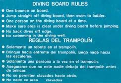 Box 8-2 Safety Guidelines for Diving from a Springboard or Platform Learn how to dive safely from a qualifi ed instructor.