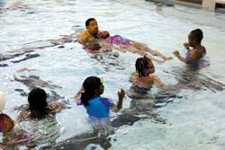 Mastering the skills taught in Preschool Aquatics allows participants to move seamlessly into Learn-to-Swim courses.