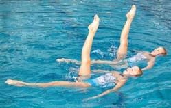 Synchronized Swimming Synchronized swimming combines skill, stamina and teamwork with the fl air of music and drama.