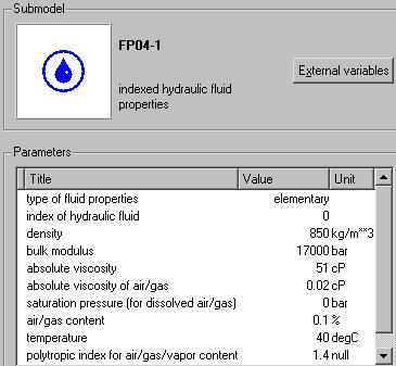 Hydraulic Library 4.2 User Manual Figure 1.6: Parameter for fluid properties submodel FP04.