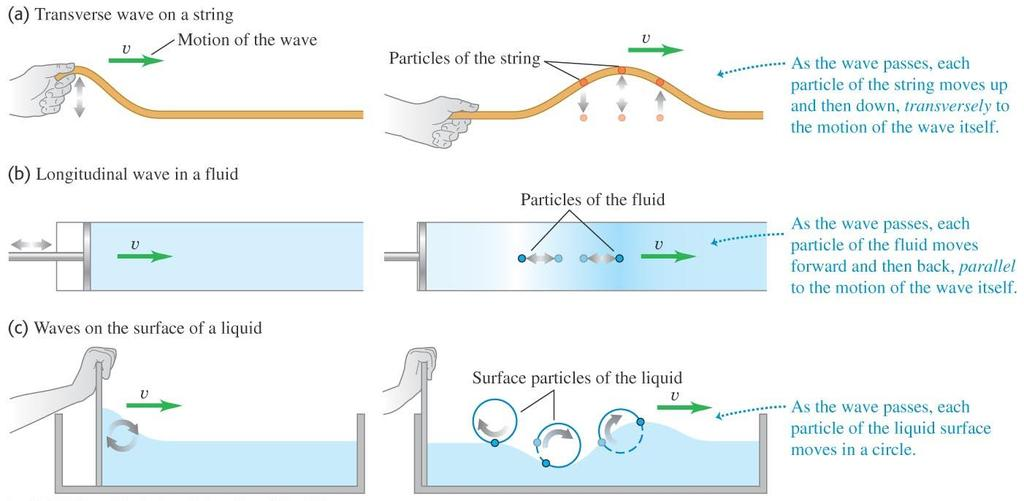 Types of mechanical waves A mechanical wave is a disturbance traveling through