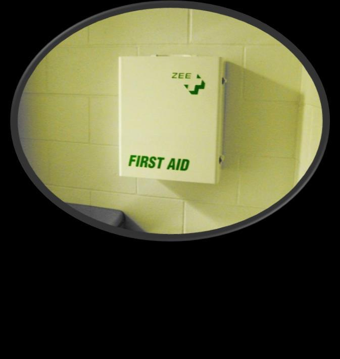 KNOW YOUR SURROUNDINGS First aid kits have a variety of quick relief items.