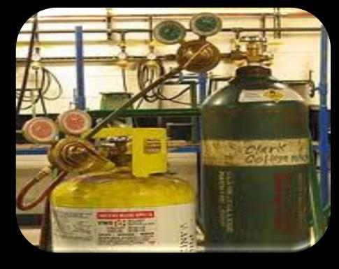 COMPRESSED GAS SAFETY Gas cylinder labels should always be visible and legible.
