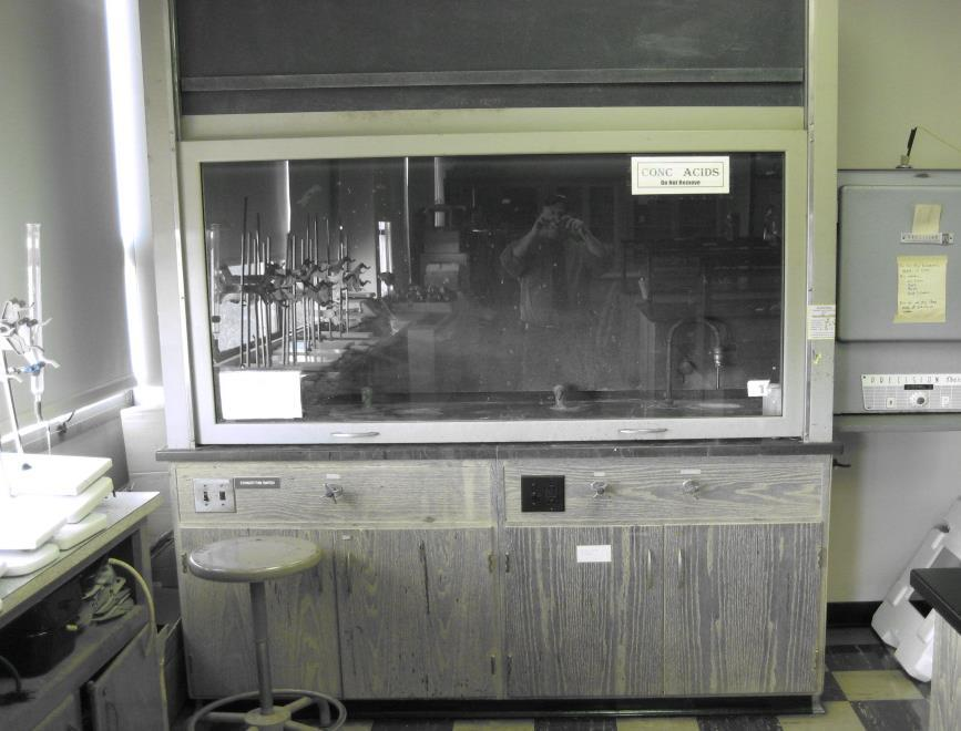 FUME HOOD The fume hood is used with chemicals.