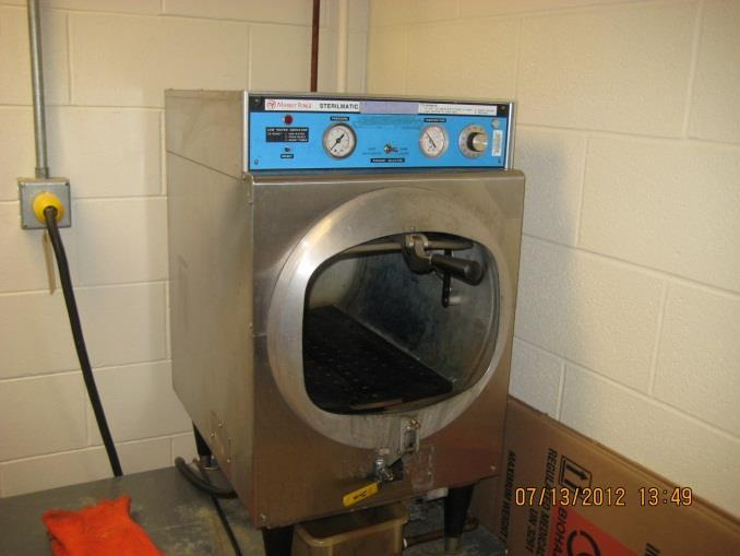 AUTOCLAVE An autoclave is used to treat infectious material