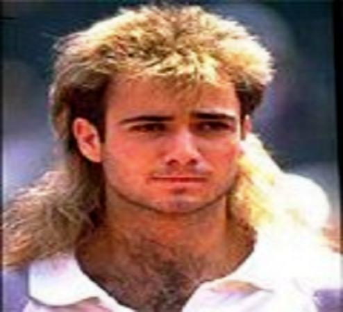 Andre Agassi s laid-back 80 s fashions belied a fierce and passionate desire to win. Agassi won 6 titles in 1988 (aged 18) and reached No.3 in the World rankings.