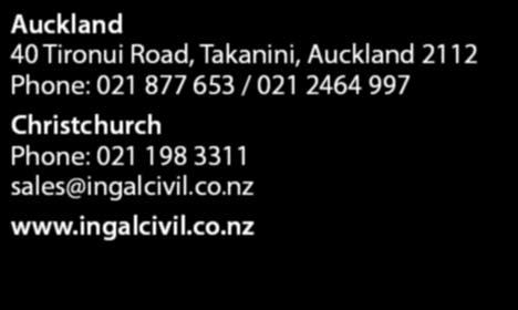 2464 997 Christchurch Phone: 021 198 3311 sales@ingalcivil.co.
