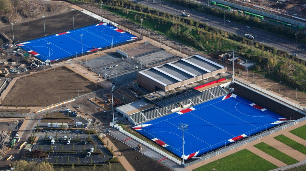 LONDON 2015 - EVENT SNAPSHOT Fri 21 Sun 30 August Lee Valley Hockey Centre, Queen Elizabeth Olympic Park (under construction here) - London 2012 legacy venue 16 teams Women England, Netherlands,