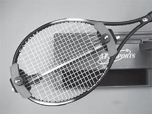 Repeat the procedure for all of the remaining main strings and tie off following the racquet manufacturers recommendations.