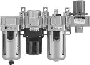 ir ombination Series ressure Relief 3 ort Valve (V) With the use of a 3 port valve for residual pressure release, pressure left in the line can be easily exhausted.