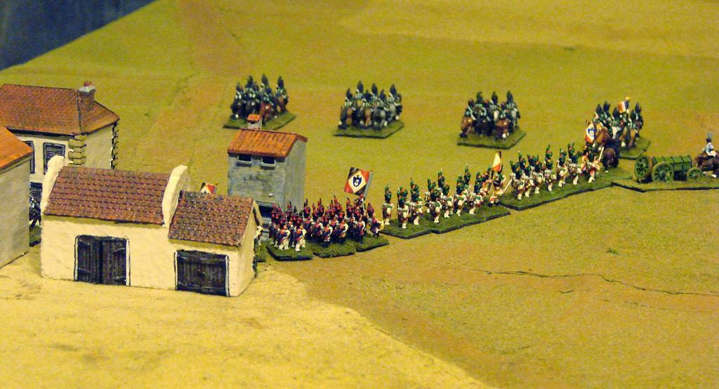 This resulted in an almost immediate clash between Von Mohr's hussars and the hussars of the Neapolitan guard.