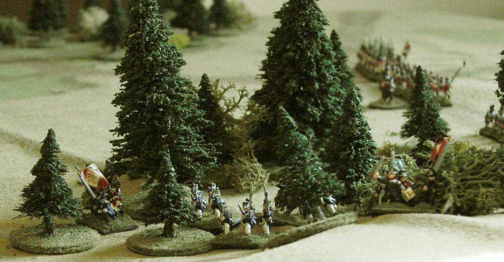 Neapolitan light infantry occupy the woods. Back on the western road, Senitzer's brigade was filing through Fortinella and marching east.