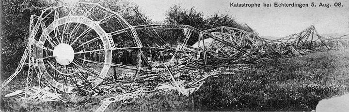 LZ4 Wreckage after