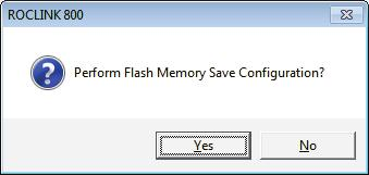 When the Save Configuration completes, the Flash Write Status field on the Flags screen displays Completed. 4. Click Update on the Flags screen.