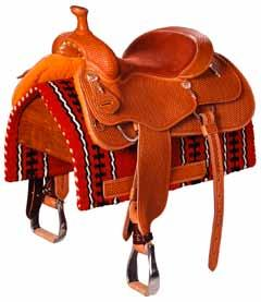 pocket seat and suede material provide excellent grip and help strengthen rider s position, whether standing or seated Show: Detailed tooling, often with silver work on skirts, cantle,