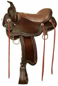 All-purpose or eventing saddles have a moderately deep seat and wide flaps that are sufficiently forward-cut to keep the rider comfortable during both flatwork and jumping.