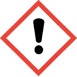 MSDS Number: W550B SDS Page 2 of 6 GHS Signal Word: WARNING GHS Hazard Pictograms: GHS Classifications: Health, Acute toxicity, 5 Oral Health, Skin corrosion/irritation, 2 Health, Serious Eye