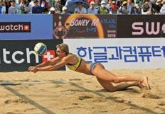 In defeating Wu and Xu for the fourthstraight time on the SWATCH FIVB World Tour, Harley and Salgado validated their most recent success against the Chinese as the Brazilians defeated their Shanghai