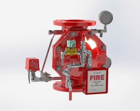 TALIS FP Range valves are used for fixed fire suppression systems, water, foam and seawater based flow control, in manual or remote on-off applications.