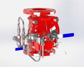 Commanded by Electric, Hydraulic, Pneumatic signals, or a combination of above, the FDV deluge valve will open gradually to provide large volumes of water with a