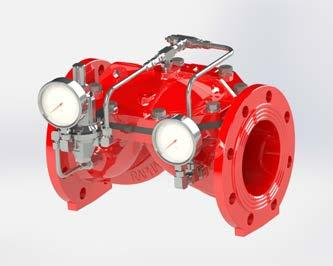 PRESSURE CONTROL VALVES Used to manage and control water pressure levels, by creating differentiated pressure zones in water and foam fire extinguishing systems.