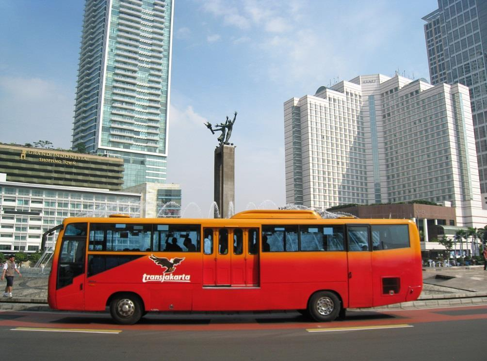 Trans-Jakarta bus and