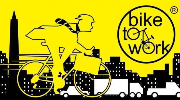 bike to work in Jakarta and logo