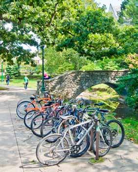 BICYCLE CIRCULATION Improvements to bicycle circulation on campus involve strengthening north-south and east-west connections as well as the creation of new bike lanes, off-street paths, and