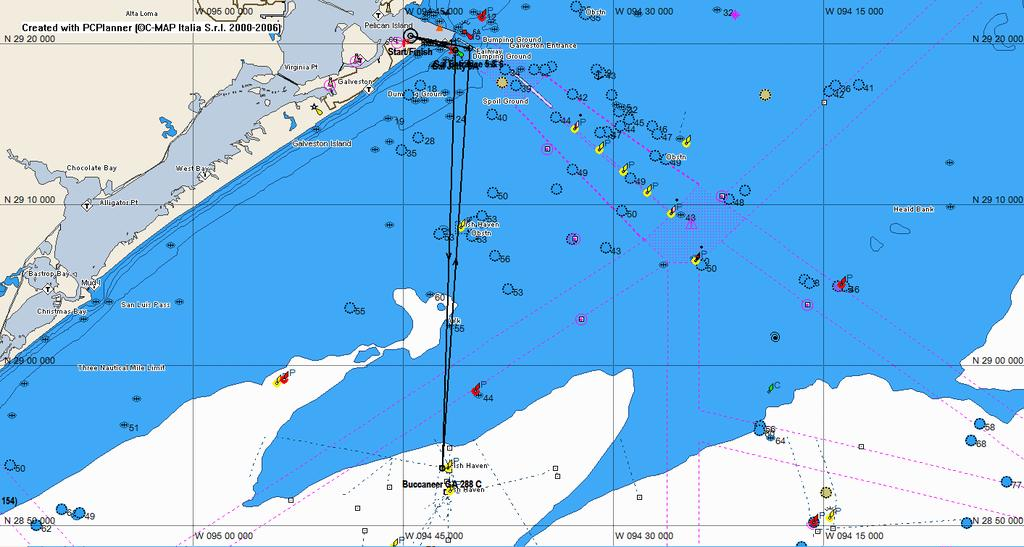 Heald Bank Offshore Race Course #6 Name Description Lat Lon BRG Dist Dist tot Start Start Btwn #11 & Flag 29 20.537 N 094 44.476 W (Nm) (Nm) Gal South Jetty #5A Gal Jetty #5A to Stbd 29 19.