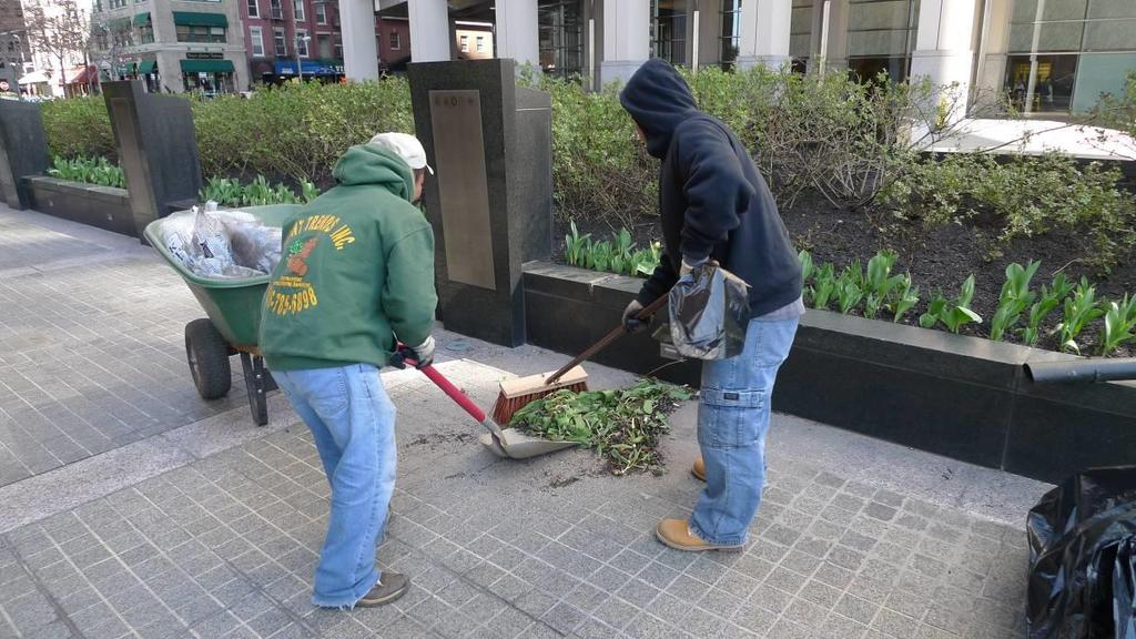 Interim Public Plazas NYC Plaza Program Maintenance Partner Outreach Design Maintenance Sweeping/Litter