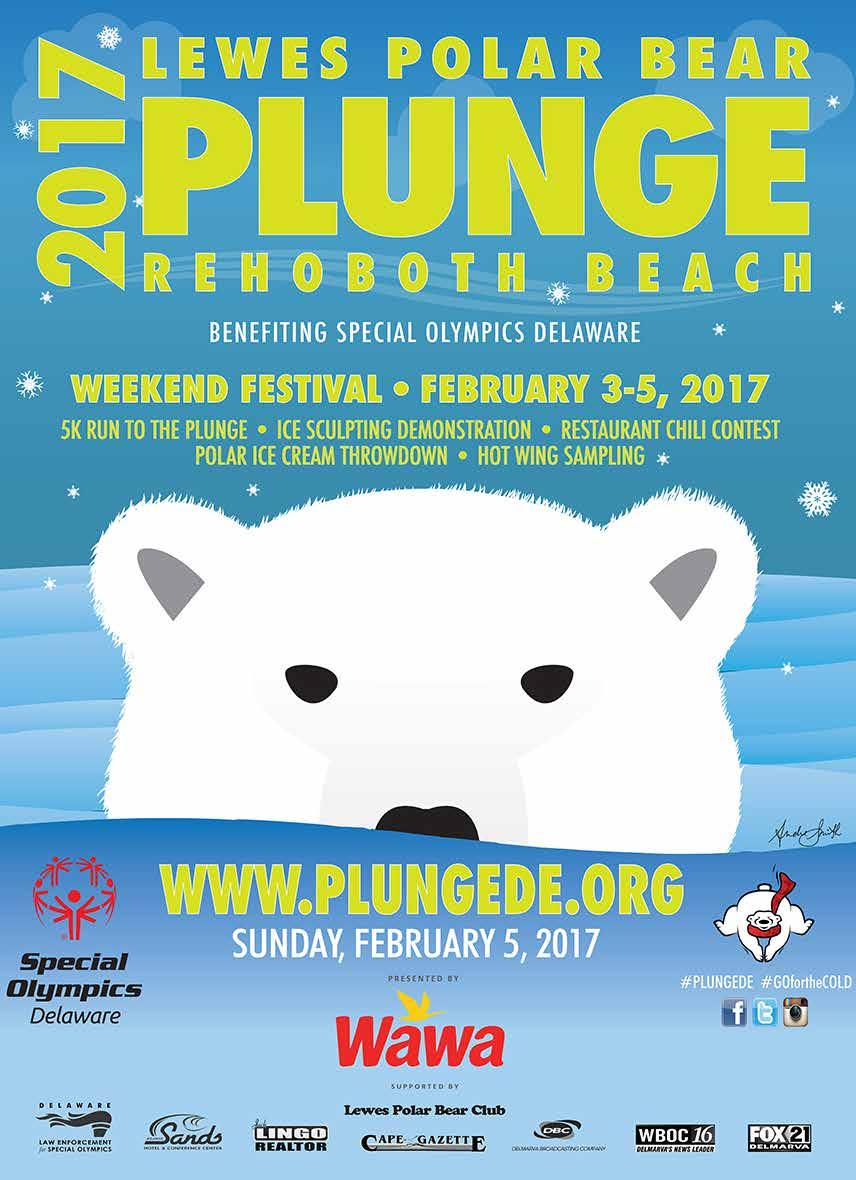 COOL SCHOOLS 2017 TEAM CAPTAIN LEWES POLAR BEAR PLUNGE REHOBOTH BEACH BENEFITING SPECIAL OLYMPICS DELAWARE WWW.PLUNGEDE.