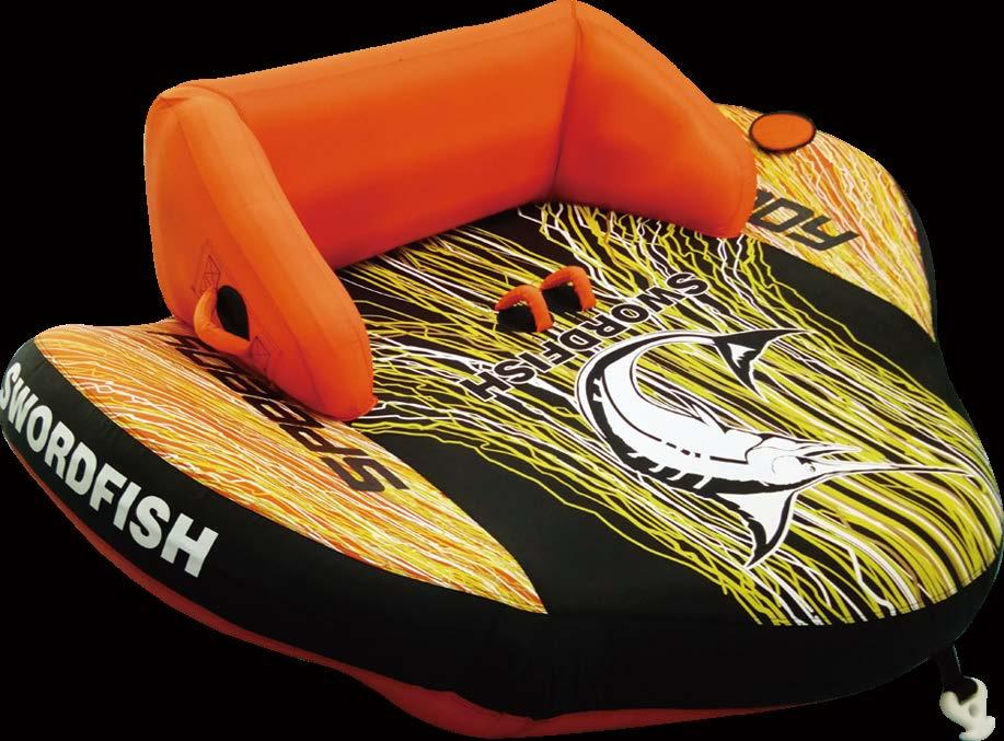 Inflatable high back rest and cushioned