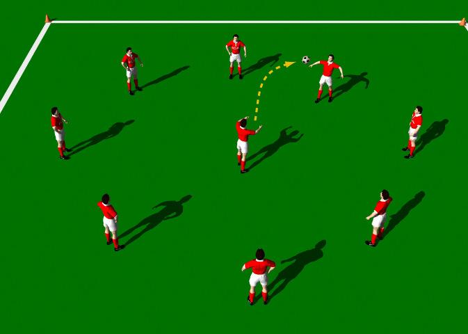 "Week Twelve Drill One Heading Reaction Exercise Objectives: This practice is structured to improve the technical ability of ""Heading with an emphasis on ""quick reaction""."
