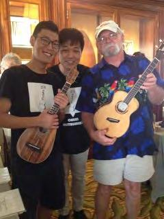 So good are they, in fact, that Bill was invited to display two of his creations at the International Ukulele Festival in Honolulu, Hawaii - quite